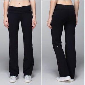 LULULEMON Astro Yoga Pants Boot Cut Black {V15}
